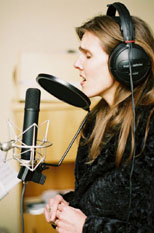 Diva in action recording studio